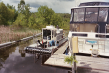For clean disposal Rotomite dredges and pumps material at Yacht Club Marina into Geotubes.