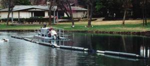 integral floating discharge line