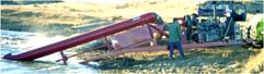 Diesel-On-Frame Trailer pump flows to 18,000 GPM, TDH to 50 feet.