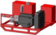 Diesel/Hydraulic Power Unit Skid Mounted, Output Horsepower 250, Hydraulic 150 GPM.