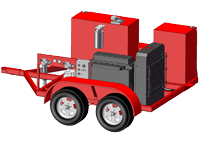Diesel-Hydraulic Power Unit-Trailer Mounted