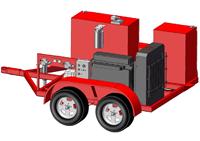 Diesel-Hydraulic Power Unit-Trailer Mounted