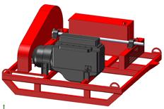 PTO/Diesel Power Unit Skid Mounted, PTO speed 540/1000 RPM, Horsepower 250.
