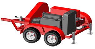 Diesel-PTO Power Unit-Trailer Mounted