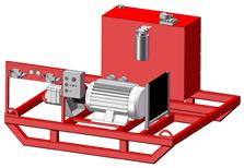 Electric-Hydraulic Power Unit Skid mounted