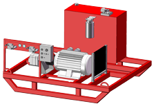 Electric-Hydraulic Power Unit Skid mounted