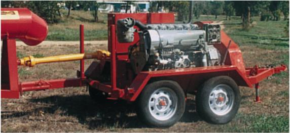 Portable Power Unit on 4 wheel trailer