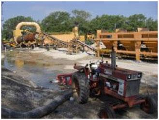 tractor for SRS Crisafullitrailer pump