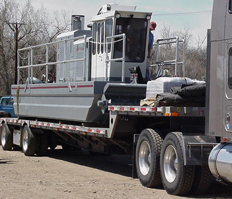 Portable Rotomite-6000 produces 150 cubic yards of solids per hour.