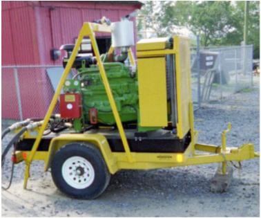 Portable Power Unit on two wheel trailer