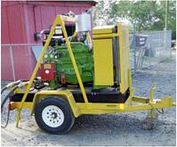 Portable Power Unit on two wheel trailer
