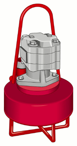 """Submersible Hydraulic Pumps, 53 models, flows to 3,800 GPM at 120 TDH, solids 3""""."""