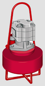 """Submersible Hydraulic Pump flows to 3,800 GPM, TDHs to 120', solids passing to 3""""."""