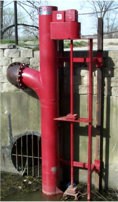 """Vertical Pump at customer site, flows to 18,000 GPM at 280 TDH, solids 5.5""""."""