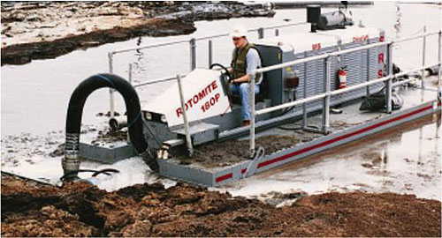 Rugged, versatile Rotomite 180-P dredging red mud