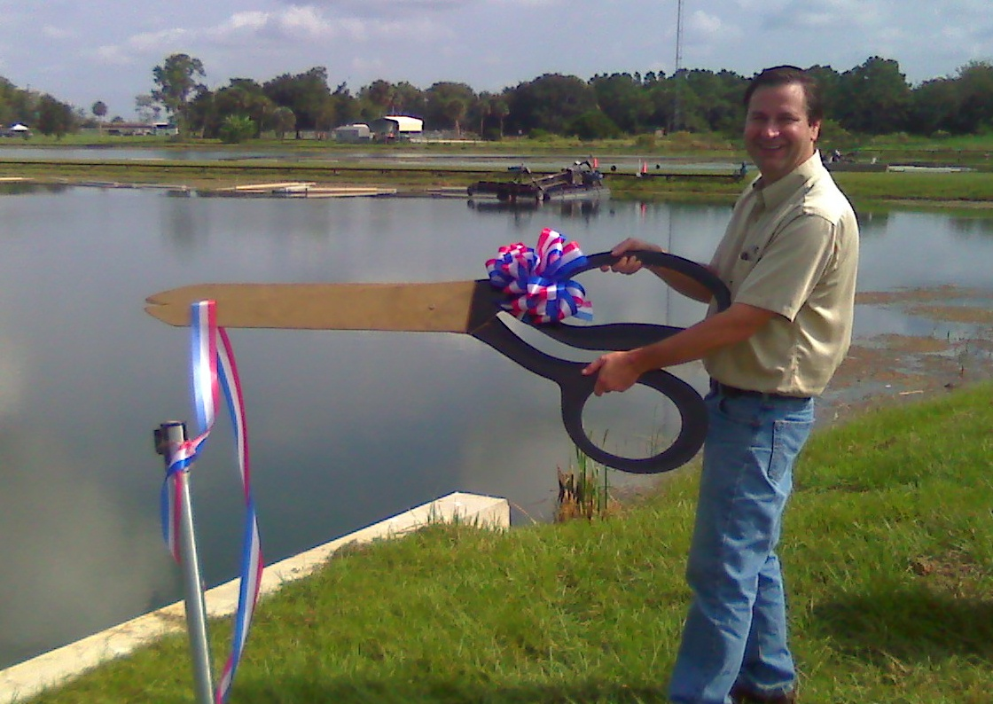 RibbonCutting FLUMP dredge at canal
