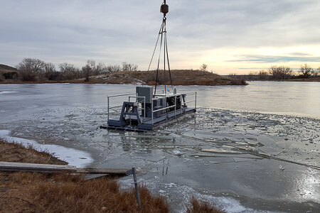 RDF-50 in the test lake in Glendive