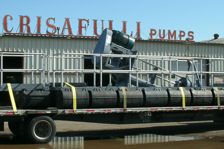 Crisafulli Platform with pump loaded for shipment