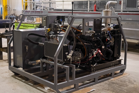 Skid Mounted Diesel to Hydraulic Power Unit