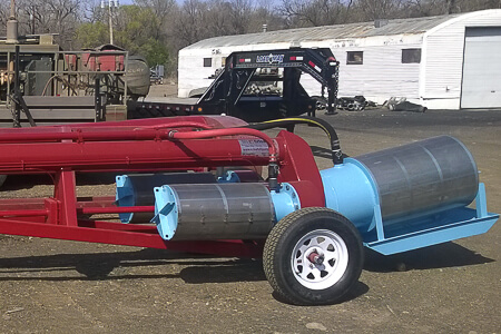 Custom Electric on Frame Trailer pump with intake screens