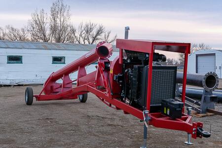 Diesel on Frame Trailer Pump