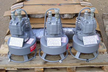 Three Submersible Hydraulic Pumps