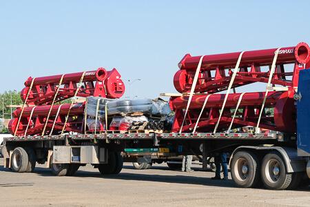 Crisafulli Trailer Pumps loaded on truck