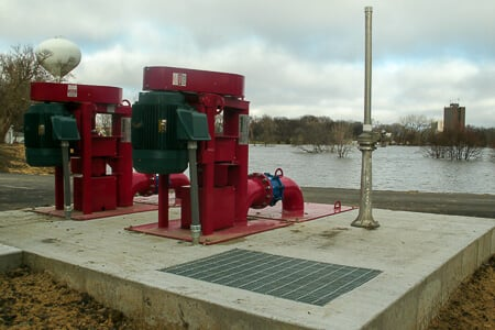 Two Crisafulli Electric Vertical Pumps installed