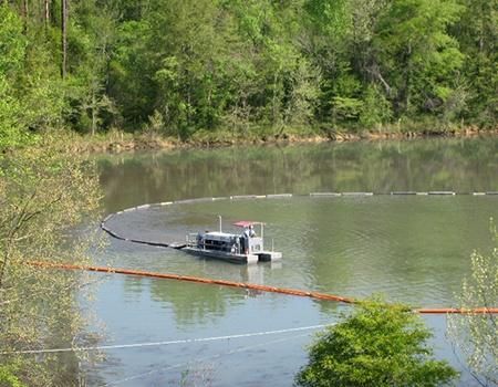 SD-110 dredging a lake